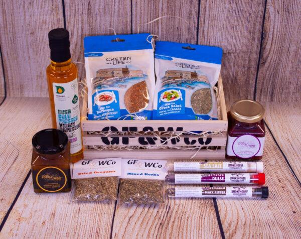Antrim Spice Wood Crate Hamper