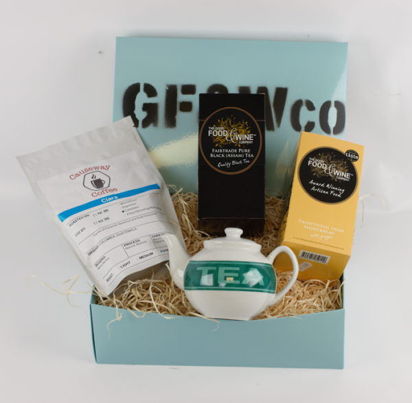 Good Food and Wine Company Titanic Tea and Coffee Hamper in Shiny Blue Box