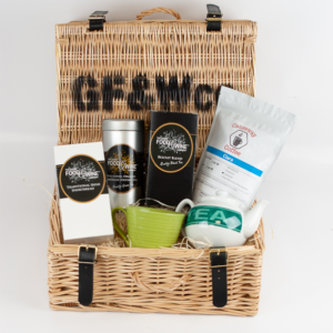 Good Food and Wine Company Titanic Tea Coffee and Shortbread Hamper in Wicker Basket