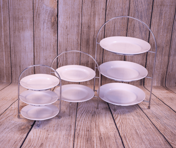 Afternoon Tea Stainless Steel Stand in 3 sizes by The Good Food and Wine Company
