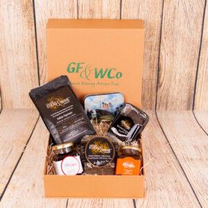 Mprning Glory hug in a box hamper gift box