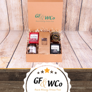 Cheese and Chutney Hamper Hug in a Box Gift from The Good Food & Wine Hamper Company