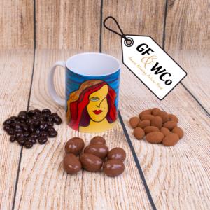Irish Maiden mug with chocolates from the Good Food & Wine Northern Ireland Hamper Company