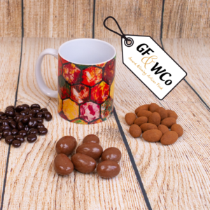 Giants Causeway mug with chocolates from the Good Food & Wine Northern Ireland Hamper and Gift Company
