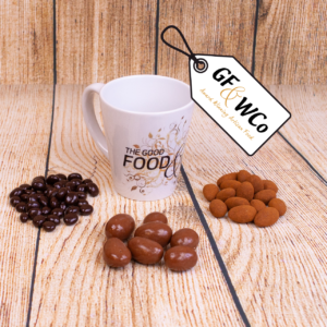 GF&WCo mug with chocolates from the Good Food & Wine Northern Ireland Hamper and Gift Company
