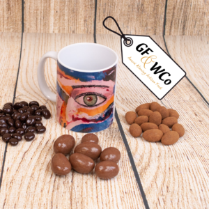 The Eye mug with chocolates from the Good Food & Wine Northern Ireland Hamper and Gift Company